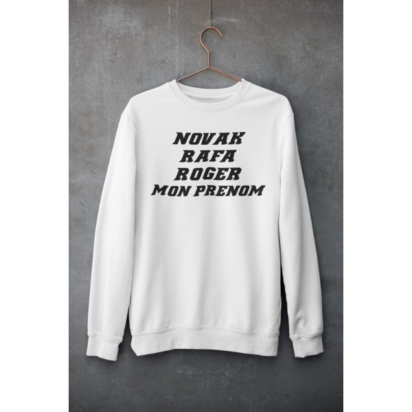 Sweat Shirt ROGER NOVAK RAFA Blanc