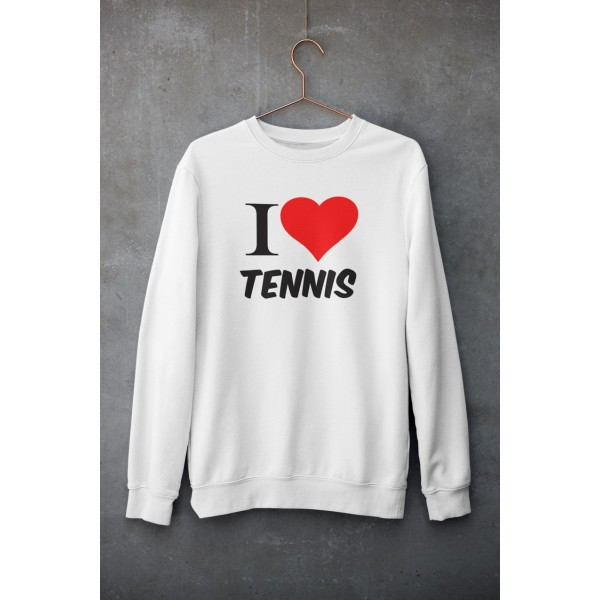Sweat Shirt I LOVE TENNIS Blanc